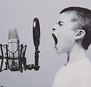 negative-space-microphone-boy-studio-screaming-free-photos